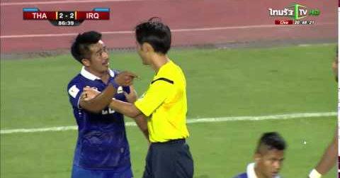 Unfair Masaaki Tomas bad referee Thailand 2-2