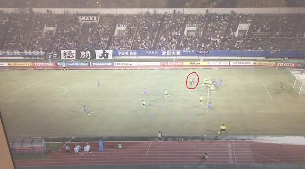its not offside gamba osaka abe