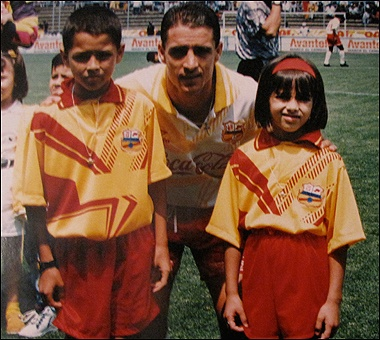 Young Chicharito,His dad,and his sister