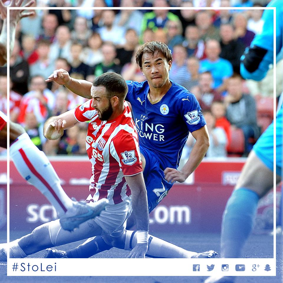 okazaki shinji Stoke City 2-2 Leicester City
