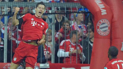 Five goals in nine minutes by Robert Lewandowski
