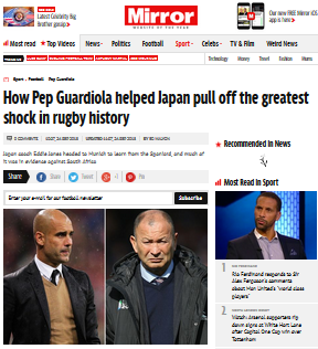 How Pep Guardiola helped Japan pull off the greatest shock in rugby history