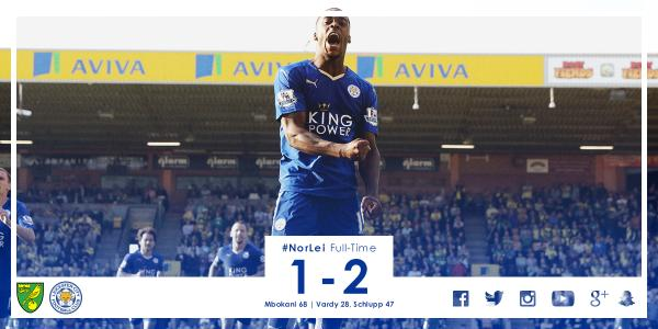 Norwich City 1-2 Leicester City