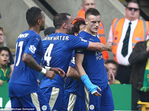 Jamie Vardy grabbed his seventh league goal
