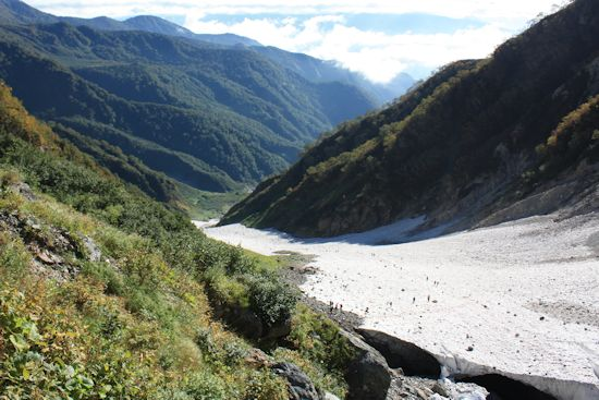 葱平(ねぶかっぴら)付近から大雪渓見おろし