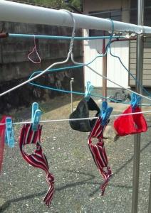 1ポーズ人形服洗濯