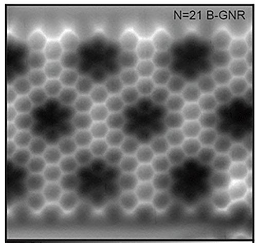 グラフェンの原子間力顕微鏡写真