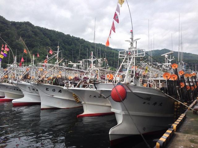 羅臼イカ釣り船