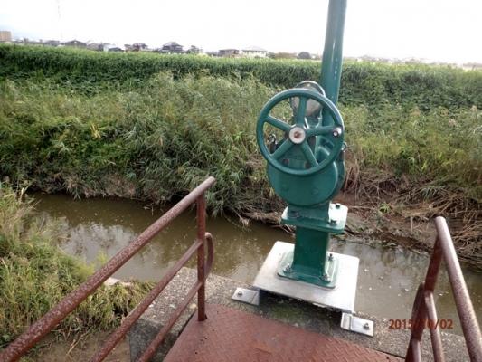 水門のハンドル