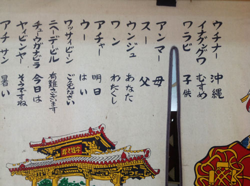 ウチナーグチ(沖縄の方言)