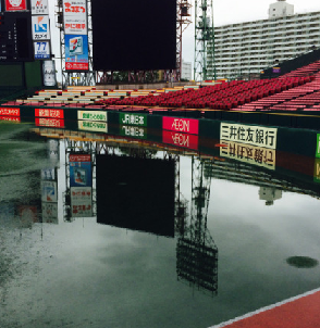 【楽天-ソフトバンク】大雨の影響で中止、コボスタ一塁側ブルペン水浸し「こんなこと初めて」