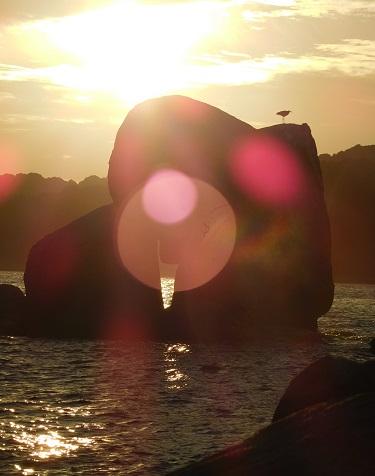 白石の鼻夕陽1