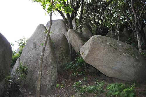 唐人石の小さな石たち