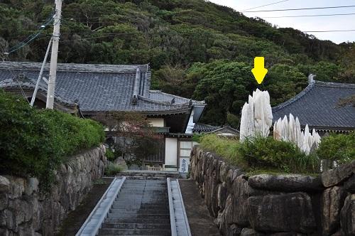 金剛福寺の岩1