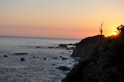 灯台から見る夕陽2