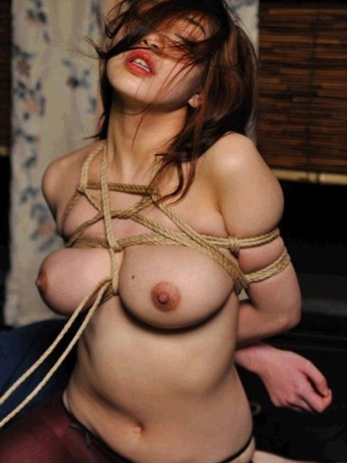 【SM画像】縄で縛られおっぱいの形が卑猥に変形しちゃってる画像くださいwwww
