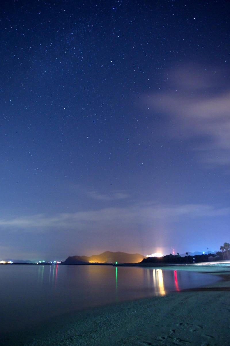 阿万海岸 星空