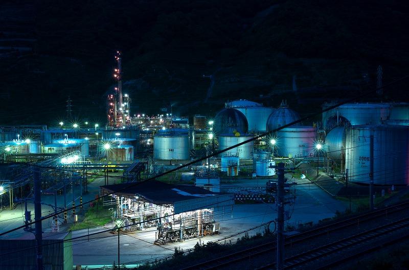 東燃ゼネラル石油和歌山工場 夜景