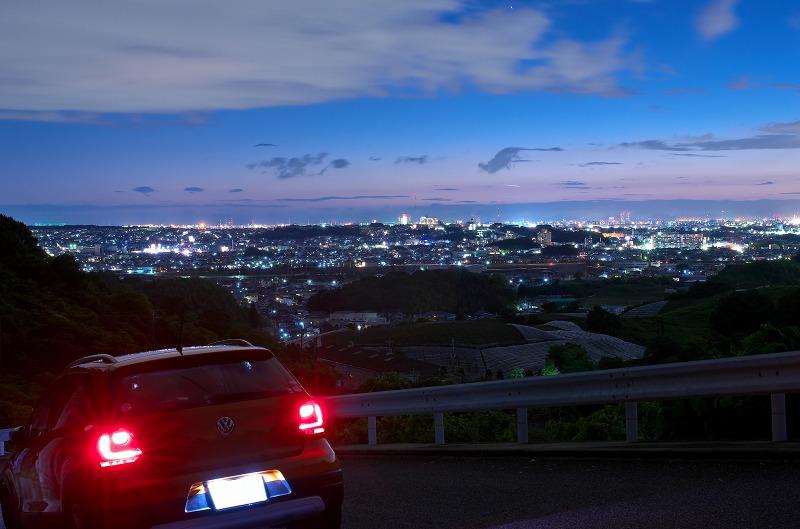 はびきの中央霊園前からの夕景・夜景