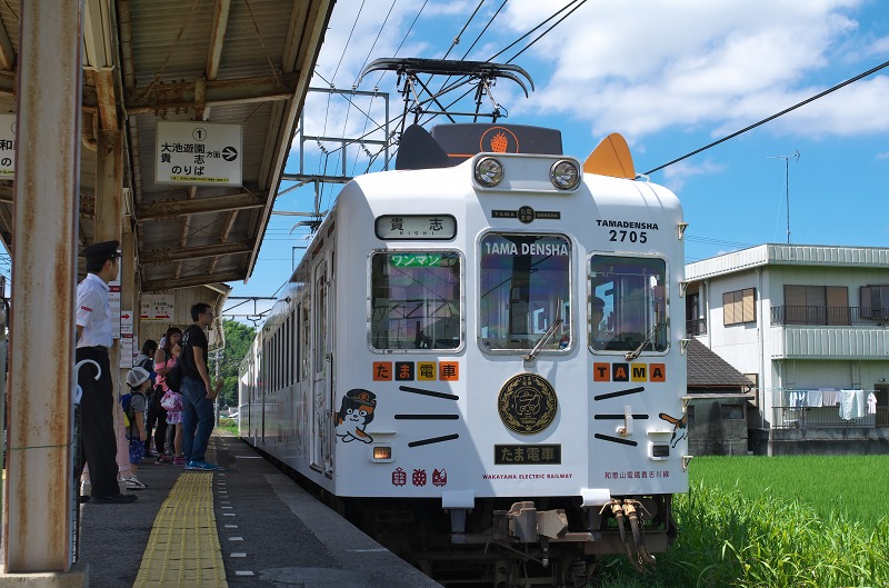 伊太祈曽駅でたま電&いちご電車