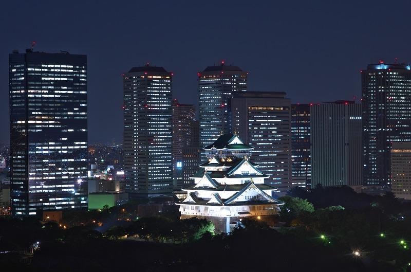大阪歴史博物館 大阪城 夜景