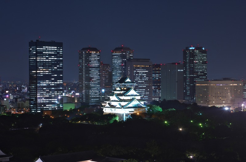 大阪歴史博物館 大阪城夜景