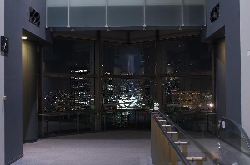 大阪歴史博物館 夜景 10Fホール
