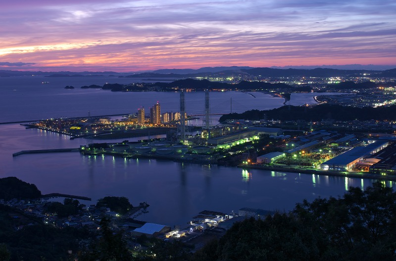 地蔵峯寺(峠の地蔵さん)からの夕景・夜景