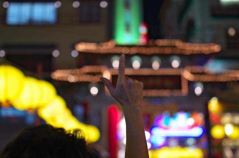 中秋節 長崎新地中華街 満月灯籠