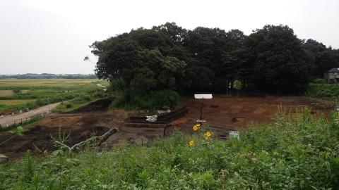 9月の遺跡発掘現場