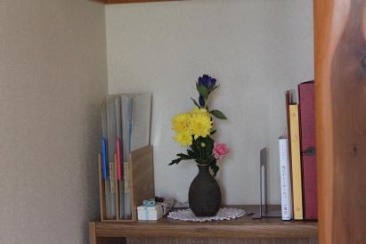 片づけ祭り 花を飾る