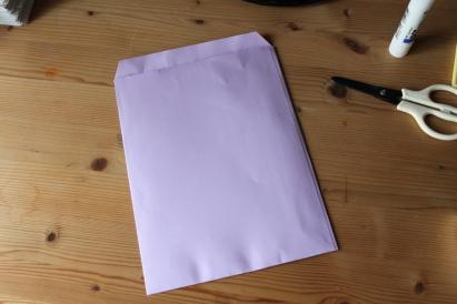 片づけ祭り ラベンダー色の封筒