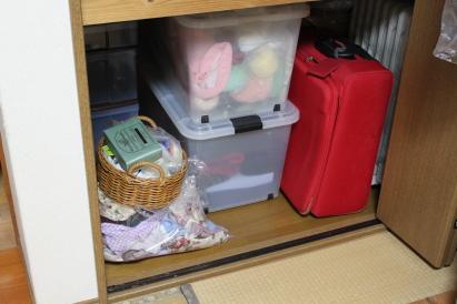 片づけ祭り 和室 押し入れ 途中