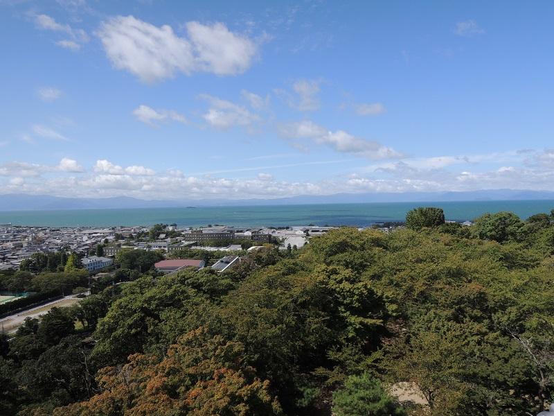 天守閣からの琵琶湖