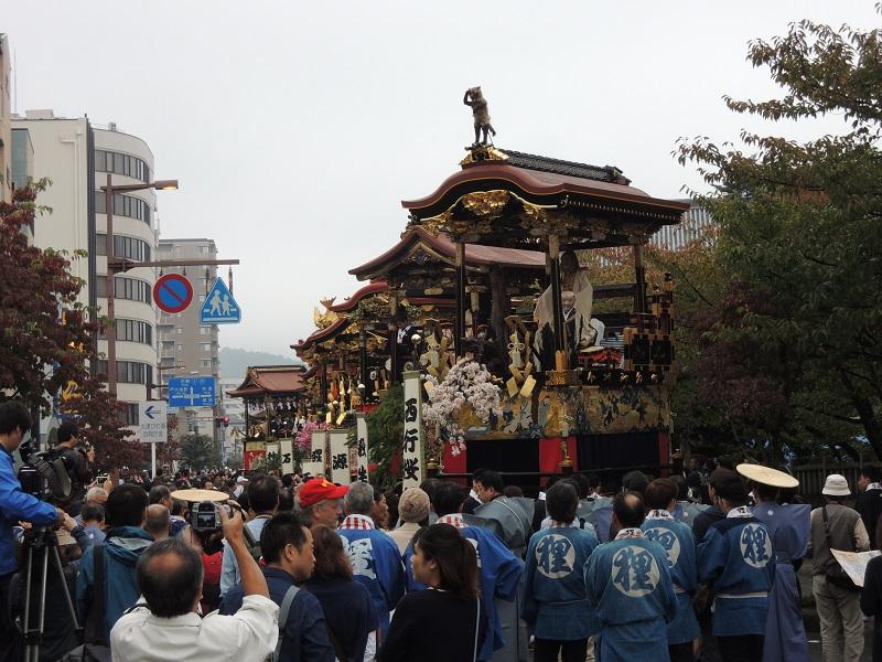 大津祭り 曳山とカメラマン
