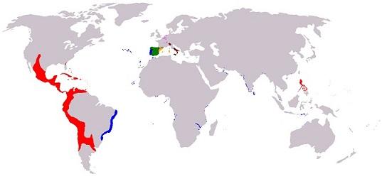 1598年のフェリペ2世の帝国