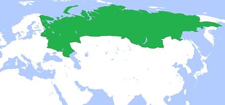 ロシア・ツァーリ国の領域(1700年)
