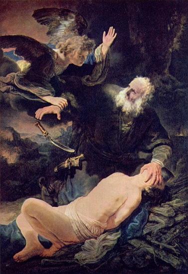 レンブラント『アブラハムとイサク』1634年