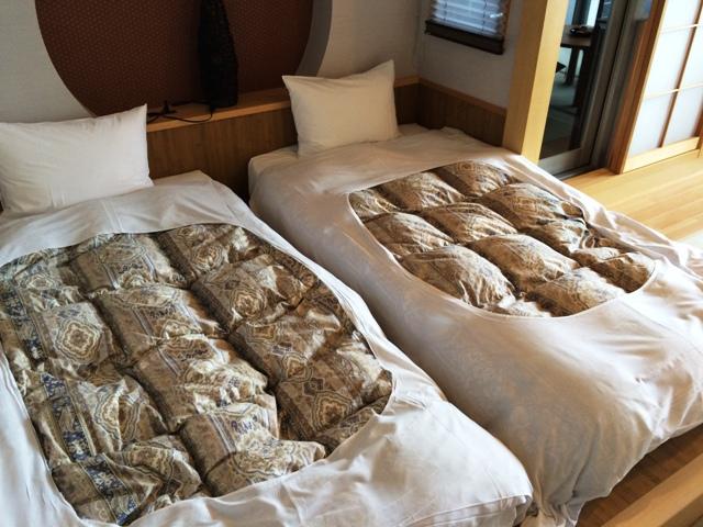大洗ホテルの部屋の布団