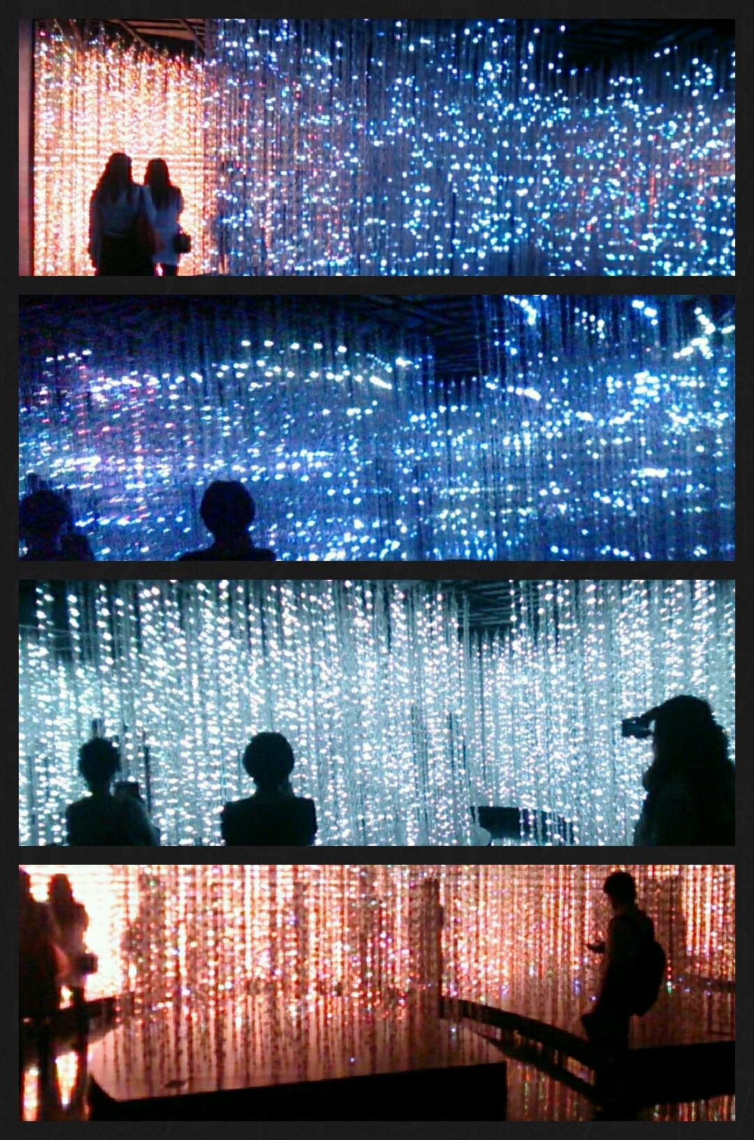team Lab exhibition クリスタルユニバース