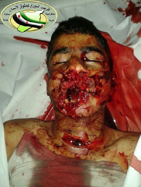 ②オバマ安倍のシリア反政府軍に口の中に拳銃を突きつけられて殺されたシリヤの少年。