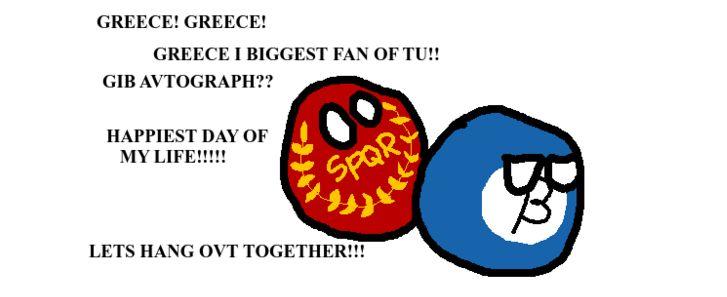 ギリシャの大ファン (1)
