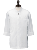 アゼック和風コートシャツ・シングル SLB910 1.ホワイト