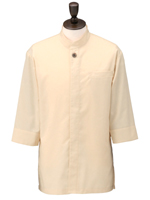 アゼック和風コートシャツ・シングル SLB910 3.ベージュ