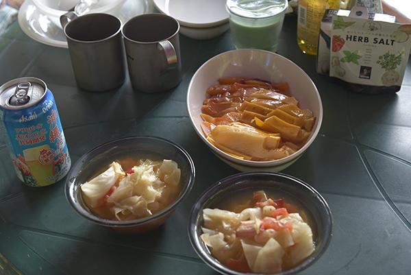 野菜スープとスモーク