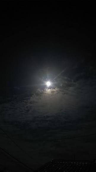 中秋の名月(9月27日ハッピーさん撮影)