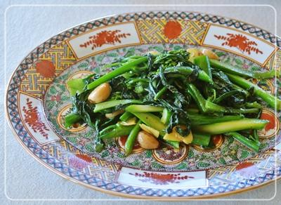 青菜のガーリック炒め