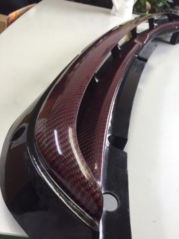 NSXカーボンケブラ― リアガーニッシュ④