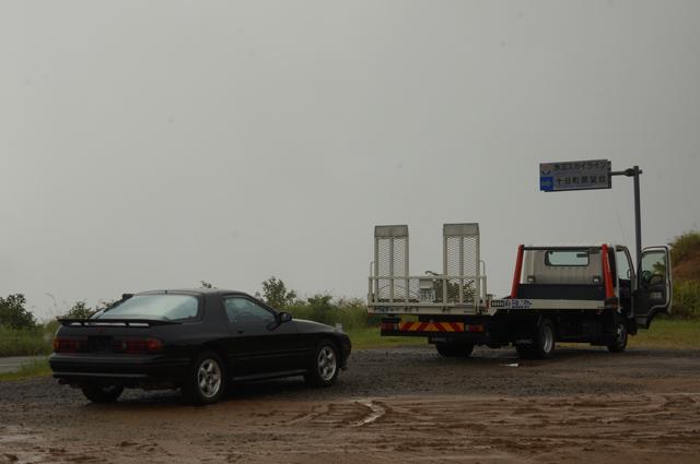 サバンナRX-7 FC3Sと積車
