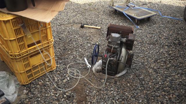 天ぷら油で動くディーゼルエンジン。WVOディーゼルです。